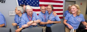 Charles Elachi and colleagues at NASA's Jet Propulsion Laboratory
