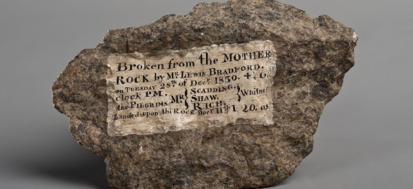 A piece of Plymouth Rock.
