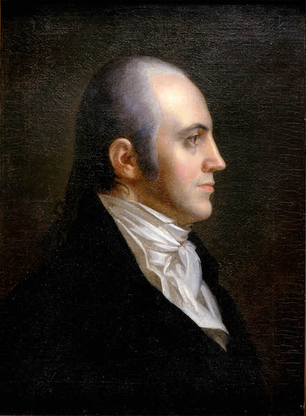 An 1802 portrait of Aaron Burr by the painter John Vanderlyn.