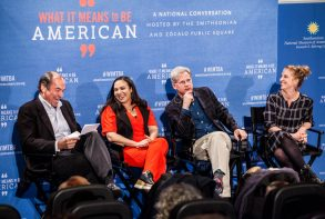 "From a Smithsonian/Zócalo ""What It Means to Be American"" Event, ""Can Television Bring America Together?"""