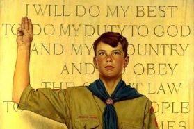 *Image: I Will Do My Best, Norman Rockwell, 1945. Courtesy of the National Scouting Museum, Boy Scouts of America. Copyright Brown & Bigelow.
