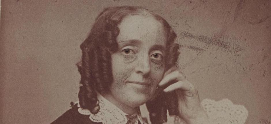 A photograph of Ernestine Rose, probably dating to the 1850s. Rose, who is not familiar to many Americans today, was famous in her time. Image courtesy of the Schlesinger Library on the History of Women in America, Radcliffe Institute, Harvard University.