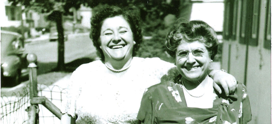 The author's grandmothers, circa 1940. Left, Angelina Ferrara Palleschi (maternal grandmother), and Teresa Munafo Salamone (paternal grandmother). Photo courtesy of Kathleen Garrett.