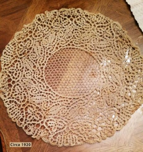 Doily, circa 1920, made by the author's grandmother. Photo courtesy of Kathleen Garrett.