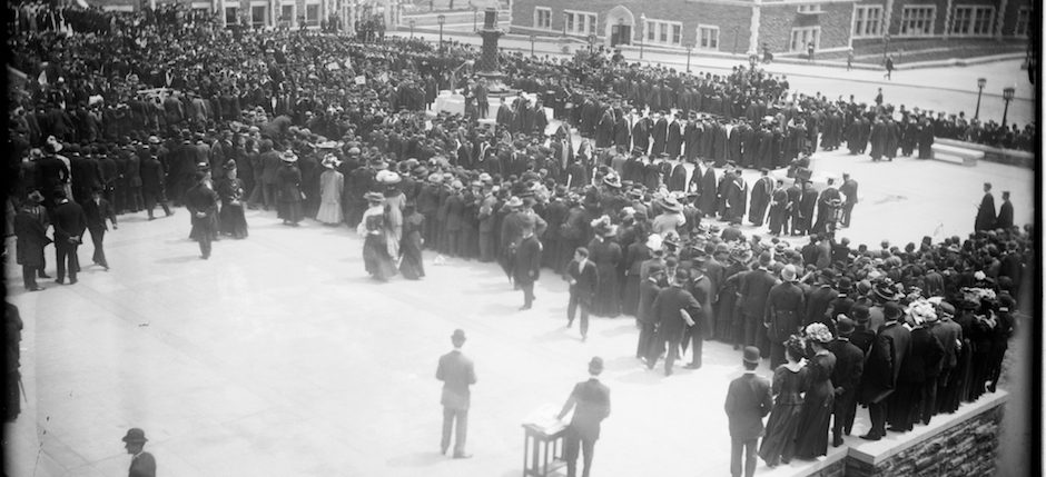 The dedication of the City College of New York campus in 1908. Image courtesy of Library of Congress.