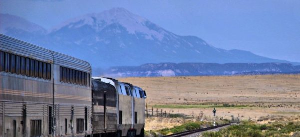 The Southwest Chief in Colorado. Photo courtesy of Wikimedia Commons.