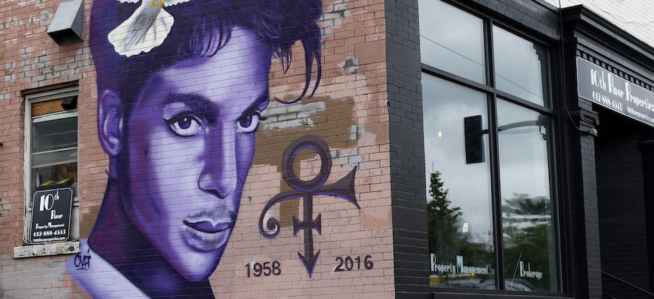 A mural commemorating Prince in Minneapolis' uptown neighborhood. The city's unique demographics were as important as the pop virtuoso's genius in shaping his music. Photo by Jim Mone/Associated Press.