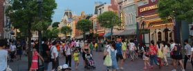 Disneyland exported its own Main Street USA to its Hong Kong theme park. Photo courtesy of Wikimedia Commons.