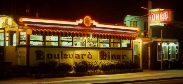 The Boulevard Diner still operates on its original site—since 1937—in Worcester, Mass. This photograph dates from 1979, but the diner remains unchanged today. Photo by Richard J. S. Gutman.