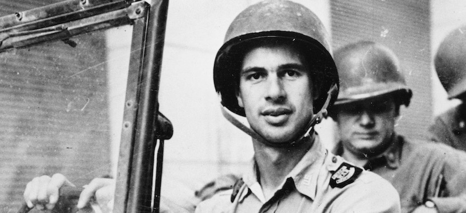John Hersey as a war correspondent in Italy in 1944. Photo courtesy of Associated Press.