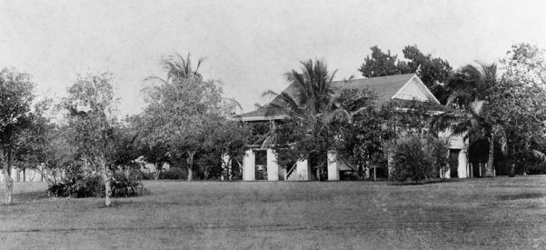 Julia Tuttle's home, constructed by enslaved Africans in the 1830s and used as a military fort during the Seminole Wars. Photo courtesy of State Archives of Florida, Florida Memory.