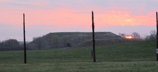 View of Monks Mound from Woodhenge Circle. Photo courtesy of Sarah E. Baires.