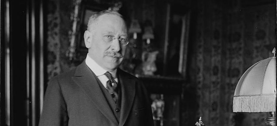 Philanthropist Julius Rosenwald in 1918. Photo courtesy of Wikimedia Commons.