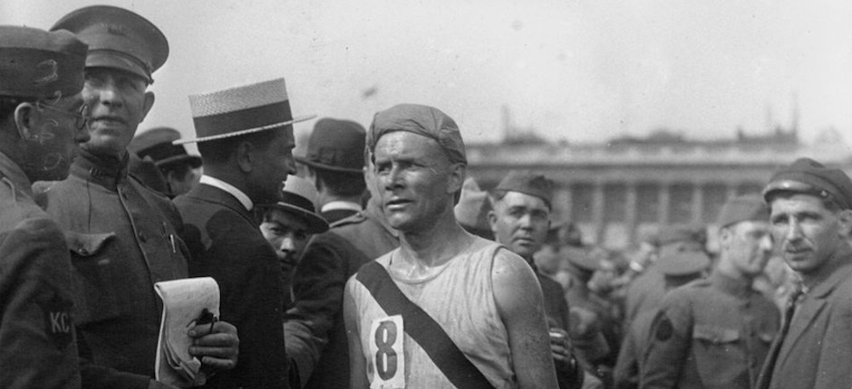 Bill Kennedy placed second in France's Chateau-Thierry-to-Paris relay race, in 1919. Photo courtesy of the National Library of France.