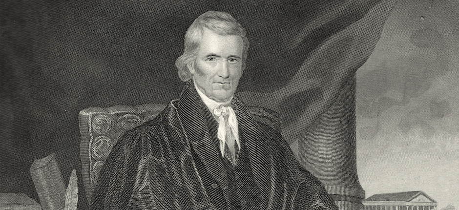 The Court is now in session: Chief Justice John Marshall. Image courtesy of Wikimedia Commons.
