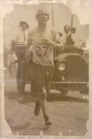 Bill running, May 1913, in St. Louis. Photo courtesy of the Kennedy Family Collection.
