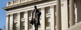 Statue of Alexander Hamilton, U.S. Treasury Building, Washington, D.C. Photo courtesy of Wikimedia Commons.
