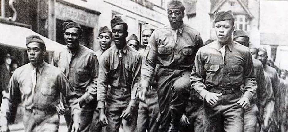 U.S. African American troops in Bristol, England, during World War II. Photo courtesy of Paul Townsend/Flickr.