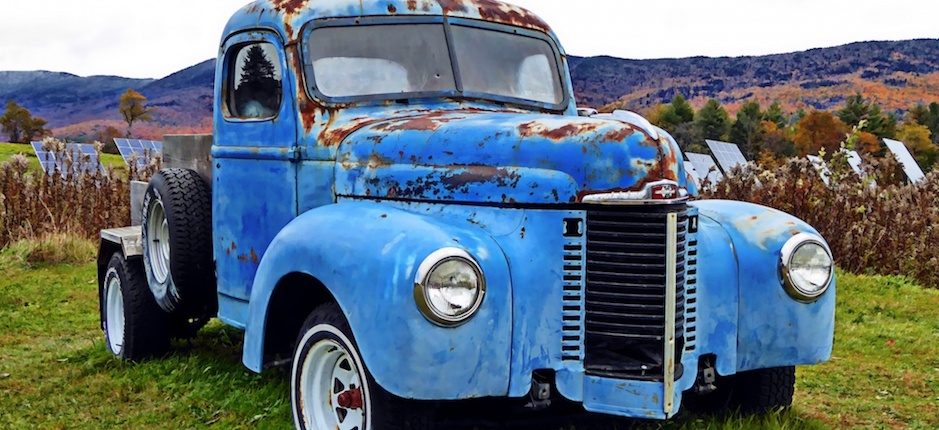 how the pickup truck carried the american south into the future  big blue jacked up chevy truck #12